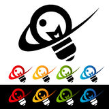 Swoosh Light Bulb Icons Stock Images