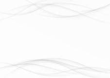 Swoosh liso suave gris alinea el fondo contemporáneo halftone Foto de archivo