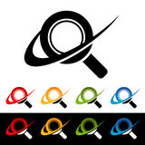 Swoosh Magnifying Glass Icons Royalty Free Stock Photography
