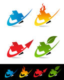 Swoosh Medical Cross Icons Royalty Free Stock Photos