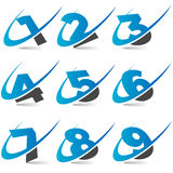 Swoosh Numbers Set4 Royalty Free Stock Image