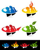 Swoosh People Icons Royalty Free Stock Images