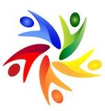 Swoosh people logo vector eps 10 Stock Images