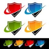 Swoosh-Schild-Ikonen stock abbildung