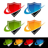 Swoosh Shield Icons Royalty Free Stock Photos