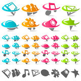 Swoosh Social Media Icons Stock Image