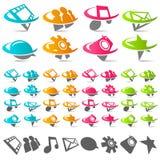 Swoosh Social Media Icons stock illustration