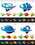 Swoosh Social Media Icons Stock Images