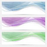 Swoosh speed wave crystal header collection Stock Photos