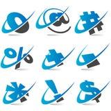 Swoosh symbol Set5 Stock Image