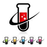 Swoosh Test Tube Icons Stock Image