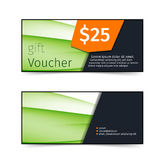 Swoosh wave abstract gift voucher Royalty Free Stock Photography