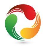 Swooshes дела логотипа Стоковые Изображения
