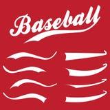 Swooshes, podkreślenie elementy dla sporta projekta, typografia dla koszulki Baseball retro ręka rysująca chłosta ilustracji