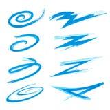Swooshes und Anschläge Swirly Stockbild