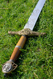 Sword. Image on an medieval sword Royalty Free Stock Photos