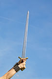 Sword. This image shows a sword in the sky stock photo