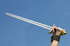 Sword. This image shows a sword in the sky royalty free stock photography
