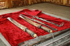 Sword. Old sword in mosque, taken from mosque of xinjiang, China Royalty Free Stock Photos