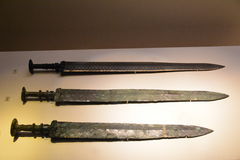 Sword of ancient emperors. The three branch of the ancient emperors used the sword before 2500 in the spring and Autumn period, Chu and Wu Wang used. Now Stock Images
