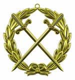Sword badge Stock Photos
