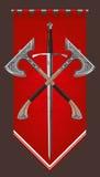 Sword bastard ornamental axe Royalty Free Stock Photography