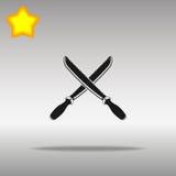 Sword black Icon button logo symbol Stock Images