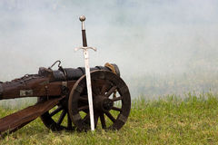 The sword and the cannon Royalty Free Stock Photo