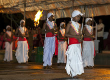 Sword Carriers perform during the Esala Perahera in Kandy, Sri Lanka. Royalty Free Stock Image