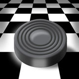 Sword on a chess-board Royalty Free Stock Images