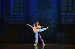 """Sword dance-Alibaba and the Forty Love story in the sea- ballet """"One Thousand and One Nights"""" Stock Images"""