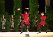 Sword dance Royalty Free Stock Image