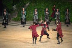 Sword dance Royalty Free Stock Photos