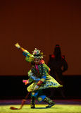 "Sword dance-Peking opera ""Little Worriors of Yeuh's family"" Royalty Free Stock Image"