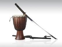 Sword and drum Stock Photos