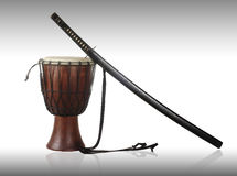 Sword and drum Royalty Free Stock Photos