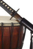 Sword and drum (close-up) Royalty Free Stock Photography