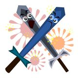 Sword fight Royalty Free Stock Photography