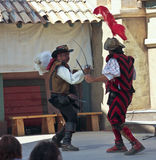 A Sword Fight at the Arizona Renaissance Festival Royalty Free Stock Photos