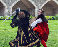 Sword Fight. Shakespeare Actors In Open Air Theater Royalty Free Stock Image