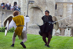 Sword Fight. Shakespeare Actors In Open Air Theater Royalty Free Stock Photo