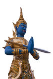Sword guardian statue at the temple Royalty Free Stock Photos