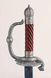 Sword handle hilt & metal serpent decorated Royalty Free Stock Images