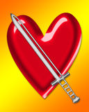 Sword and Heart royalty free stock photo