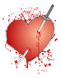 Sword and heart Stock Image