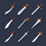 Sword icon flat Stock Photos