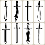 Sword Icons Set Royalty Free Stock Image
