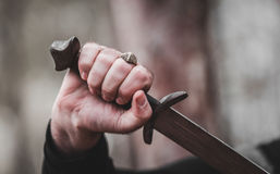 Free Sword In The Man`s Hand Stock Photography - 83869932