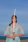 Sword Lady Stock Image