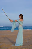 Sword Lady Stock Photo